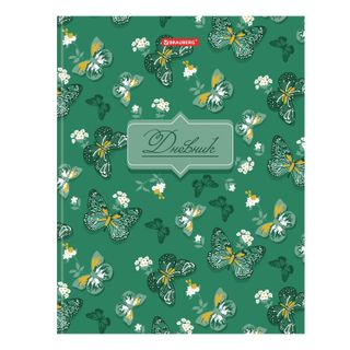 Diary 5-11 class 48 sheets, solid, BRAUBERG, selective varnish, with a hint,