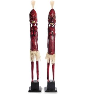 "Wooden statuette ""Asmat red, Golden"" 100 cm"