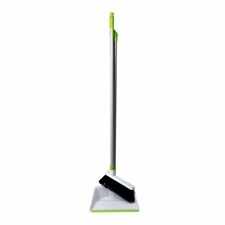LYUBASHA / Garbage scoop with a broom, steel handle 80 cm, plastic, rubber edge