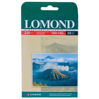 Photo paper for inkjet print, 10x15 cm, 230 g/m2, 50 sheets, single-sided glossy LOMOND