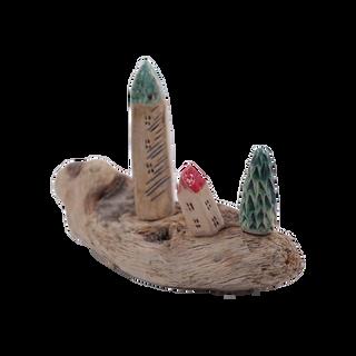 "Surenas of wood and ceramics ""Rich neighbor"" - copyright miniature"