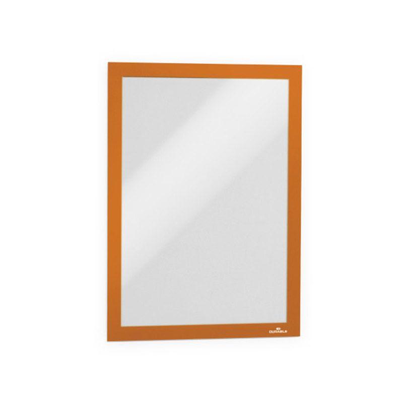 Durable / Self-adhesive information frame Duraframe, A4 Orange