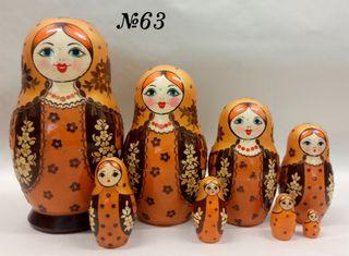 Vyatka souvenir / Inlaid matryoshka 8 ave.