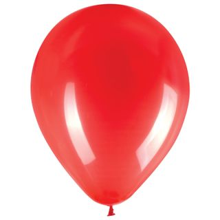 """GOLDEN FAIRY TALE / Balloons 10 """"(25 cm), SET of 50 pieces, red, package"""