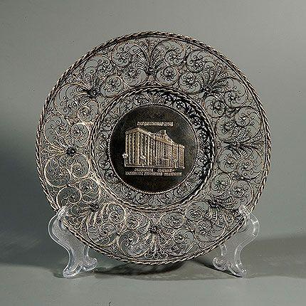 "Kazakov Filigree / Plate ""Decorative"" silvering"