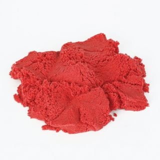 Sand for modeling kinetic INLANDIA, red, 500 g, 2 molds, bucket