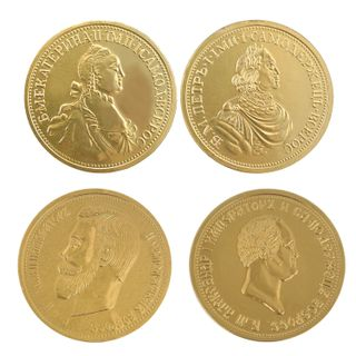 "MONETNY YARD / Chocolate medal ""Emperors of Russia"", 25 g"