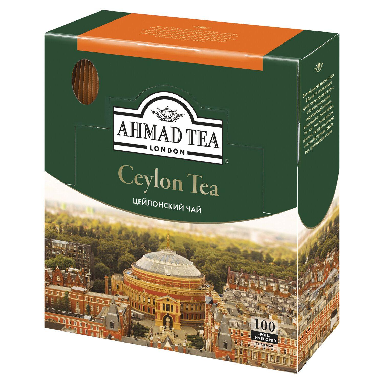 AHMAD / Ceylon Tea, black, 100 sachets with 2 g tags