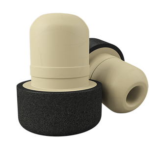T-shaped solid-cast two-tone plug