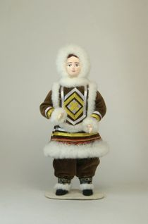Doll gift porcelain. The Peoples Of The North.