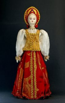 Doll gift porcelain. The Archangel's lips. Maiden costume. The end of the 19th century