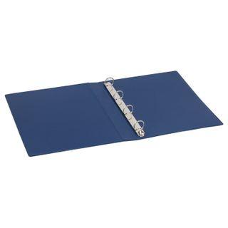 Folder on 4 rings BRAUBERG, cardboard/PVC, 35 mm, blue, 250 sheets (double life)