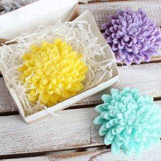 Handmade soap Chrysanthemum - mix of colors