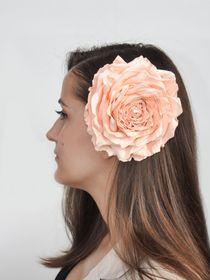 Brooch hairpin Peach rose