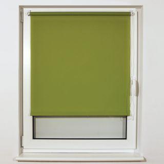 BRABIX 40x175 cm roll curtain, texture - loe, protection 55-85%, 200 g/m2, green