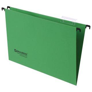 Hanging folder A4/Foolscap (406х245 mm), up to 80 sheets, SET of 10 PCs, green, cardboard, BRAUBERG (Italy)