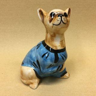 "Porcelain figurine ""a Chihuahua in a blue t-shirt"""