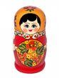 8 Khokhloma matryoshka dolls - view 2