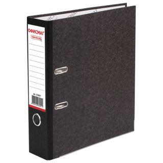 Folder-Registrar FISMA, texture standard, with marble flooring, 80 mm, black spine