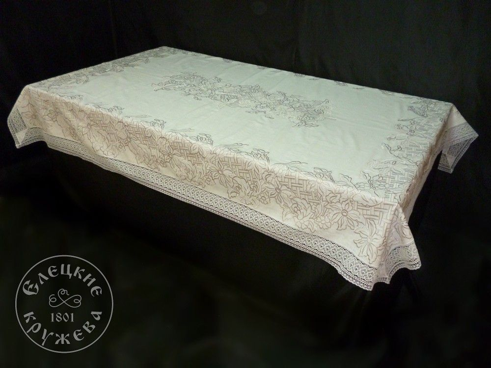 Yelets lace / Linen tablecloth С2173