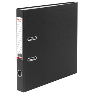 Folder-Registrar with FISMA arch mechanism, PVC coating, 50 mm, black