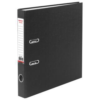 Folder-Registrar with FISMA arch mechanism, PVC coating, 50 mm, black