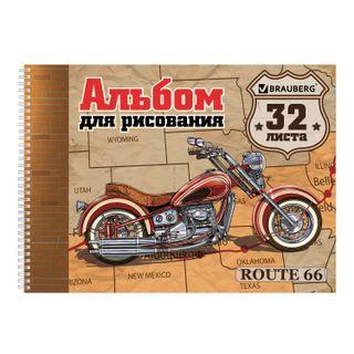 Drawing album, A4, 32 sheets, comb, cover cardboard, BRAUBERG IVF, 205 x290 mm,