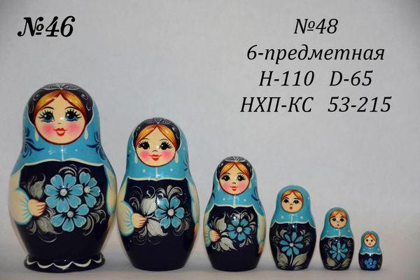 Vyatka souvenir / Matryoshka 6-piece number 48
