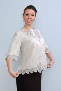 Blouse womens linen 9-374