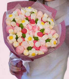 "Delicious bouquet ""Bouquet Harmony"" of marshmallows and marmalade, KAWAKA"