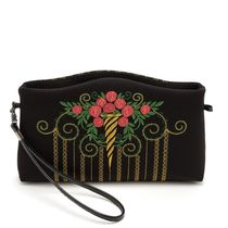 Bag 'Rosalind' black with gold embroidery