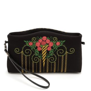 "Bag ""Rosalind"" black with gold embroidery"