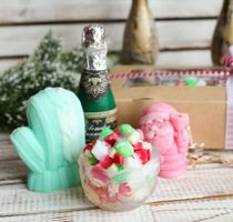 Set of handmade New Year's soap of Merry New Year