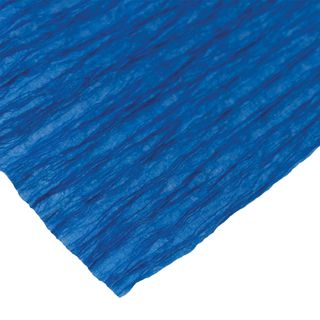 ISLAND OF TREASURES / Crepe paper for creativity and floristry, 110 g / m2, blue, 50x250 cm