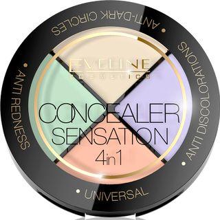 A professional set of scissors facial makeup series 4in1 concealer sensation, Eveline, 4,4 gr
