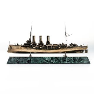 Scale replica of the armored cruiser