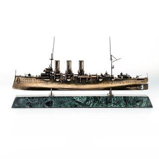 Scale replica of the armored cruiser