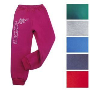 Trousers for children from footer smooth with print