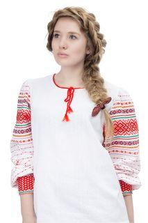 "Blouse, shirt under a dress women's in Russian folk style ""Morning freshness"""