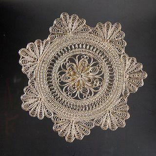 "Kazakov Filigree / Plate ""Star"" silvering"