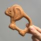 Wooden rattle teething toy 'baby Elephant' - view 1