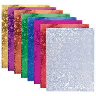 Colored paper A4 HOLOGRAPHIC, 8 sheets in 8 colors, 80 g/m2, the