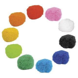 POM-poms for creativity, 10 colors, 8 mm, 60 PCs., TREASURE ISLAND