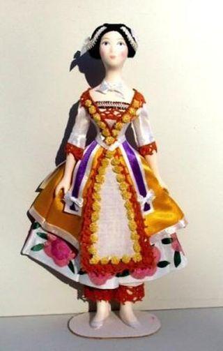 Doll gift. Costume Bakst for the ballet