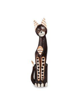 """Wooden statuette """"Cat"""" 60 cm"""