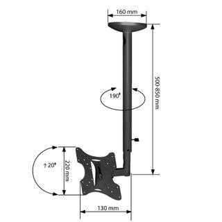 Bracket-mounted for TV ceiling ARM MEDIA LCD-1000, VESA 75-200, 10-37,