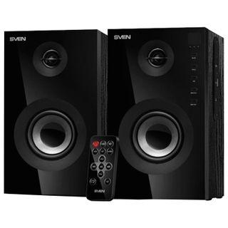 SVEN / Computer speakers SPS-615, 2.0, 2x10 W, USB, SD, Bluetooth, wood, black