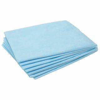 CLEANING / Non-sterile disposable sheets, SET 100 pcs., 70x80 cm, SMS 14 g / m2, blue