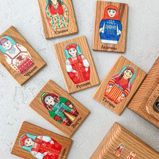 "Memori ""My Russia"" in a wooden box"