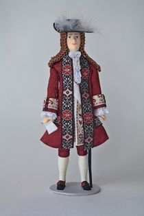 Doll gift. Men's court dress. France. The late 17th - early 18th century.